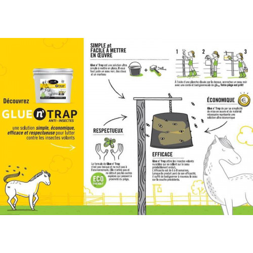 Glue n' Trap - Piège insectes volants