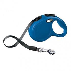 Laisse Chien Flexi Classic Bleu - Accessoire Chien