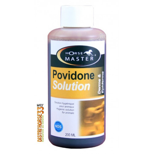 Povidone Iodine Solution 200 ml - Désinfectant cheval